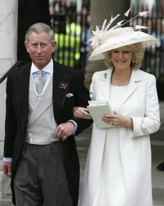 Prince Charles and Princess Camilla     Prince Charles of Wales married Camilla Parker Bowles on April 9, 2005. The couple had quite the controversial courtship, both being married once before each other. The groom's parents did not attend the civil service ceremony, but were present at the service of blessing and reception. Princess Camilla's dress was designed by little known at the time, Robinson Valentine. This wedding put this British design house on the international map.