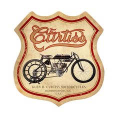 Curtiss began his career as a Western Union bicycle messenger, a bicycle racer, and bicycle shop owner. In 1902 Curtiss began manufacturing motorcycles with his own single-cylinder engines. His first motorcycle's carburetor was adapted from a tomato soup can containing a gauze screen to pull the gasoline up via capillary action. In 1907, Curtiss set an unofficial world record of 136.36 mph  on a 40 hp V8-powered motorcycle  intended for use in aircraft.[