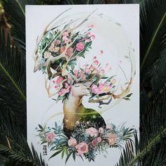 """10.4 ezer kedvelés, 109 hozzászólás – A R T J O N G K I E (@jongkie) Instagram-hozzászólása: """"""""Spring Emotions"""" >>swipe for hyperlapse video>> . Inspired by bridal bouquet in 2017. Watercolors…"""""""