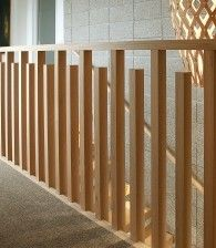 Home Exterior: Possible modern railing to replace roman columns on patio. Exterior Stair Railing, Wood Railings For Stairs, Indoor Railing, Modern Stair Railing, Wrought Iron Stair Railing, Stair Railing Design, Steel Stairs, Stair Handrail, Modern Stairs