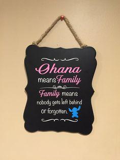 Disney home decor - Ohana Means Family