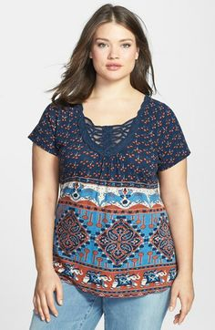 Lucky Brand 'Elephant Bazaar' Top (Plus Size) available at #Nordstrom
