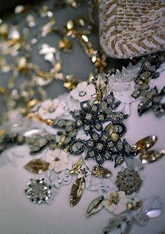 Embellishment Details on CHANEL Fall-Winter 2014- 2015 Haute Couture