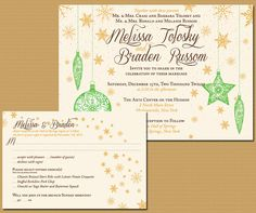 beyond adorable Christmas wedding invitations!