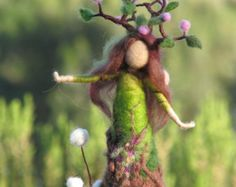 Waldorf inspired needle felted garden fairy by Made4uByMagic