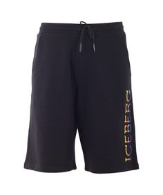 ICEBERG Iceberg Men'S  Black Cotton Shorts'. #iceberg #cloth #shorts