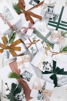 Are your presents all wrapped yet? If not all the good paper is probably gone. We're sharing super cute DIY wrapping ideas that will WOW every recipient! How sweet are these photo gift tags created? Wrapping Gift, Creative Gift Wrapping, Christmas Gift Wrapping, Diy Gifts, Holiday Gifts, Wrapping Ideas, Noel Christmas, All Things Christmas, Winter Christmas
