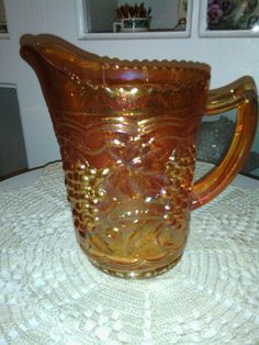 Imperial Glass Co Milk Pitcher by TeacupAddict on Etsy, $21.33