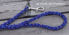 Blue Red White Dog Leash 6 foot Pet Leash by UpNorthGalCreations