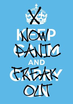 Fonts used: Avenir Posca Mas Thrasherz. Now Panic And Freak Out. Keep Calm Posters, Words Worth, Freak Out, Text Style, I Can Relate, Good Advice, True Stories, Make Me Smile, Typography