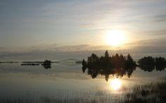 lake - fog - Sun - Kemijärvi