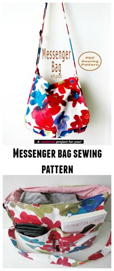 Messenger bag sewing pattern.