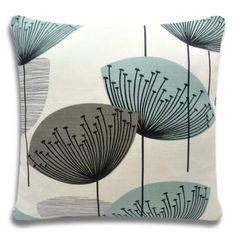 Sanderson Dandelion Clocks Fabric Cushion Cover~ Aqua & Grey (chaffinch) Colour in Home, Furniture & DIY, Home Decor, Cushions | eBay