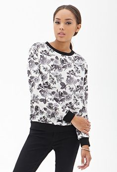 Woven Floral Print Pullover | FOREVER 21 - 2000066863