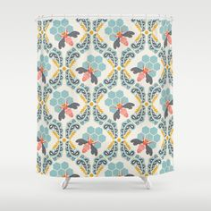 Bee Sweet Shower Curtain By Bonnie Christine