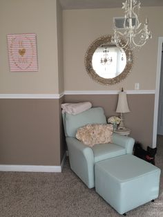 Baby girl nursery. Neutrals, golds and pinks #nursery #babygirl #babygirlnursery #pink #pinkandgold #neutralnursery #girlnursery #sage #sagemichael