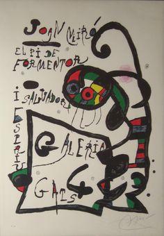 """Joan Miró: """"El Pi de Formentor"""" P.A. - Subasta Real"""