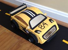 { The Crafty Homeschool Mama }: Race Car Valentine's Day Box