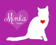 Cat Gift, Custom Pet Art - 8x10 Home Decor Print, Name, Pet Name, Kitty, Crazy Cat Lady Friend, Gift for Cat Lover, Pets, Heart, Love, Kitty