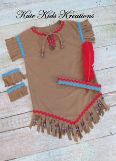 Girls Native American Indian Inspired Costume. This is a great outfit to wear…                                                                                                                                                                                 More