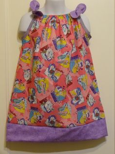 Beauty and The Beast Magical Toss Girls Pillowcase Dress, Made to Order Size 6m, 12-18m, 18-24 months, and Size 2 to 8, Princess Belle by DesignsByGranGran on Etsy