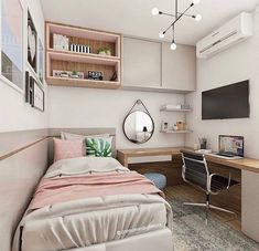 ★ Tiny Bedroom Decor For Tiny Houses Bedroom Decor For Teen Girls, Room Ideas Bedroom, Small Room Bedroom, Home Decor Bedroom, Tiny Girls Bedroom, Bedrooms Ideas For Small Rooms, Tiny Bedrooms, Bedroom Ideas For Small Rooms For Teens, Small Modern Bedroom