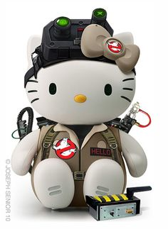 Hello Kitty Ghostbuster is too awesome for her own good! The link has a ton more.. Hello Master Cheif?!? Love.