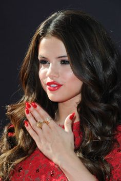 The 30 best red nails of all time: Selena Gomez
