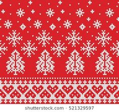 Imagens, fotos stock e vetores similares de Heart Shape Scandinavian Printed Textile style and inspired by Norwegian Christmas and festive winter pattern in cross stitch with Christmas tree, snowflakes, bear , hearts on white background - 476063872 Knitting Charts, Knitting Socks, Knitting Patterns, Knit Socks, Christmas Patchwork, Christmas Border, Norwegian Christmas, New Year Designs, Christmas And New Year