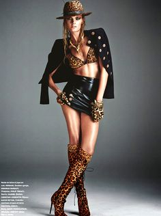 Constance Jablonski by Greg Kadel for Número in Versace