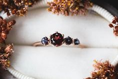 Pink sapphire wedding band rose gold Stackable ring Solid white/ rose/yellow gold round cut VS natural pink Sapphire SI-H round cut natural conflict free diamond Band width approx (bottom): Vintage split shank look Prong Pave Alexandrite Engagement Ring, Engagement Rings, Alexandrite Ring, Rose Gold Stackable Rings, Garnet Rings, Garnet Gem, Red Garnet, Thing 1, Pink Sapphire