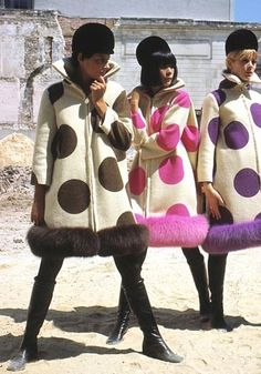 Pierre Cardin 1967 OMG Need one of these coats. With fake fur, of course
