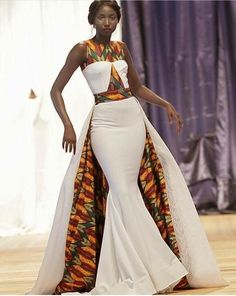 Modern African print inspired wedding gown