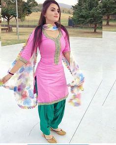 Best Indian salware suits Click VISIT link above to read Punjabi Girls, Punjabi Dress, Pakistani Dresses, Indian Dresses, Indian Outfits, Punjabi Suits, Indian Clothes, Salwar Suits Simple, Patiala Suit Designs