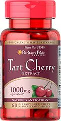 Tart Cherry Extract 1000 mg Cherries are known for their natural content of antioxidants and other beneficial components. Now you can eas...