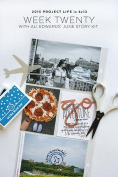 Project Life Week Twenty made using Ali Edwards' June Story Kit.