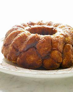 Monkey Bread  Martha Stewart  Start with her yeast dough recipe