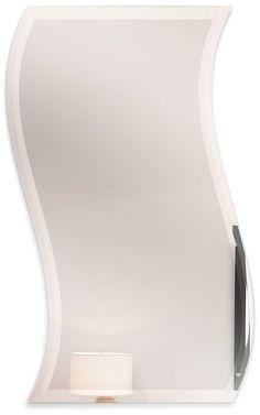 9fadb239658e Fab Glass and Mirror 24 X 36 Inch Wavy Beveled Polish Frameless Bathroom  Wall Mirror with Hooks