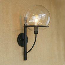 Loft applique appliques murales ronde boule de verre abat-jour rétro mur lampe pour salle de bains/allée/escalier luminarias de l'intérieur e27 Edison(China (Mainland))