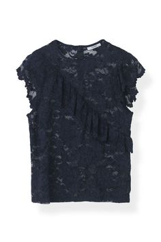 Flynn Lace Top, Total Eclipse