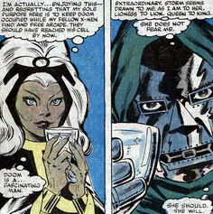 Storm and Dr Doom