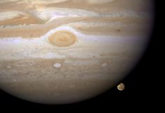 Jupiter and its moon, Ganymede    http://hubblesite.org/newscenter/archive/releases/solar-system/2008/42/