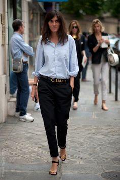 Emmanuelle Alt, via Street Style Aesthetic.