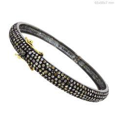 WONDERING 5.3Ct Diamond Pave Bracelet 925 Sterling Silver 14k Gold Fine Jewelry #Handmade #Friendship