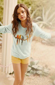 Wildfox Beach Sweatshirt & Hudson Kids Shorts | Nordstrom