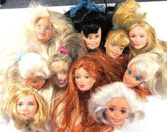 Barbie Doll cabezas diez 10 muñeca VINTAGE cabezas por punksrus