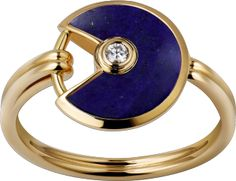 Amulette de Cartier ring Yellow gold, lapis lazuli, diamond ($3,400)