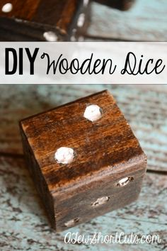 Diy Wooden Dice