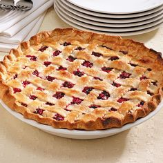 Favorite Cranberry Cherry Pie Recipe -The addition of cranberries in this pie is a great way to dress up canned cherry pie filling—the two flavors really compliment each other. —Rita Krajcir, West Allis, Wisconsin