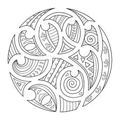 maori pattern colouring pages Maori Designs, Tribal Designs, Henna Designs, Doodles Zentangles, Ta Moko Tattoo, Tattoo Maori, Maori Symbols, Maori Patterns, Polynesian Art